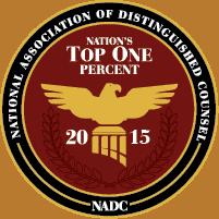 Top 1 Percent Trial Lawyer Award Bronx